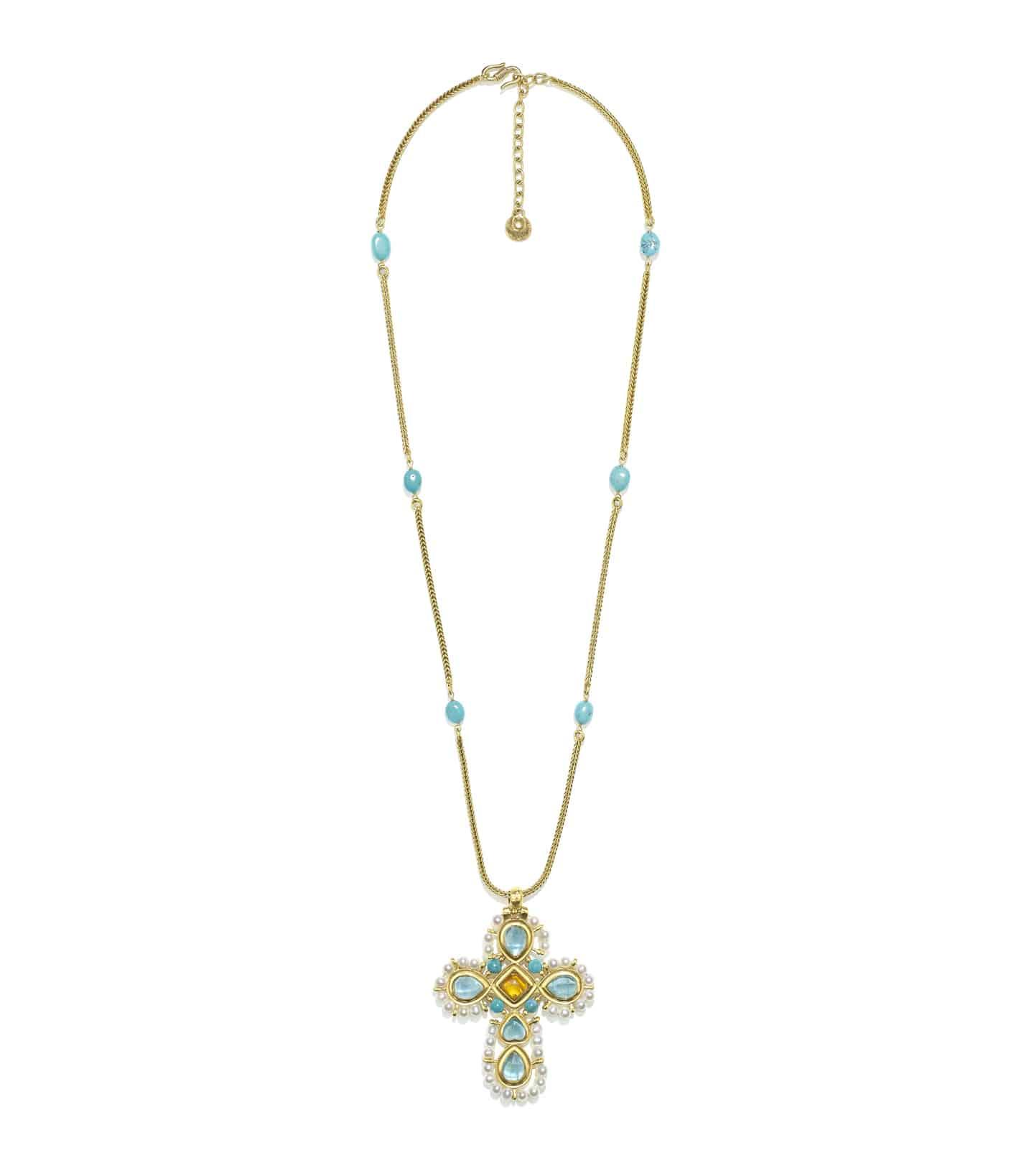 Venise collier Pendentif Croix