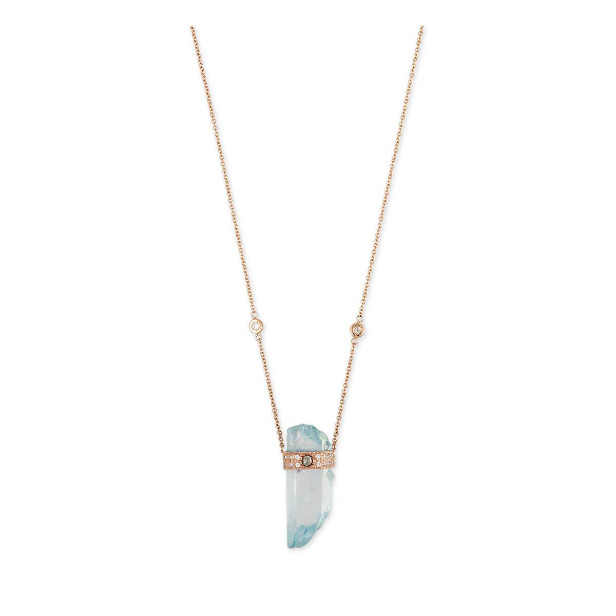 Collier en Acquamarine et Diamants