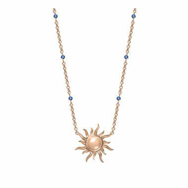 Collier Soleil Saphir Bleu