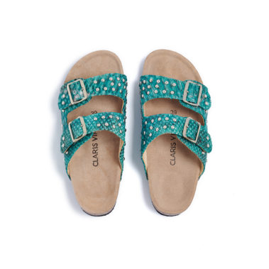 Sandals Python Odette Aqua