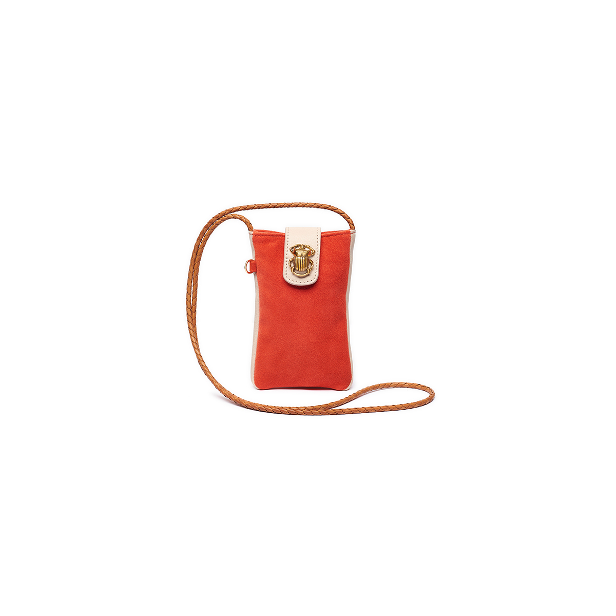 Phone bag Leather Marcus Tangerine