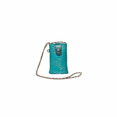 Phone Bag Python Marcus Aqua