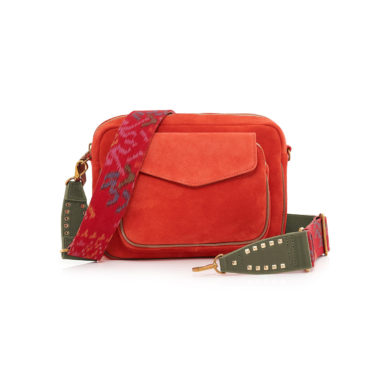 Bag Leather and Suede Charly Tangerine