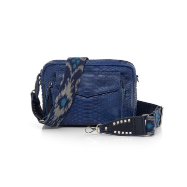 Bag Python  and Suede Charly Navy