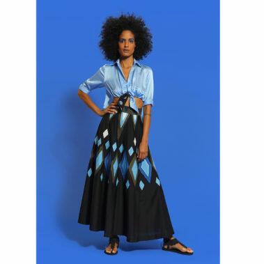 Chica Blouse – Blue Breece