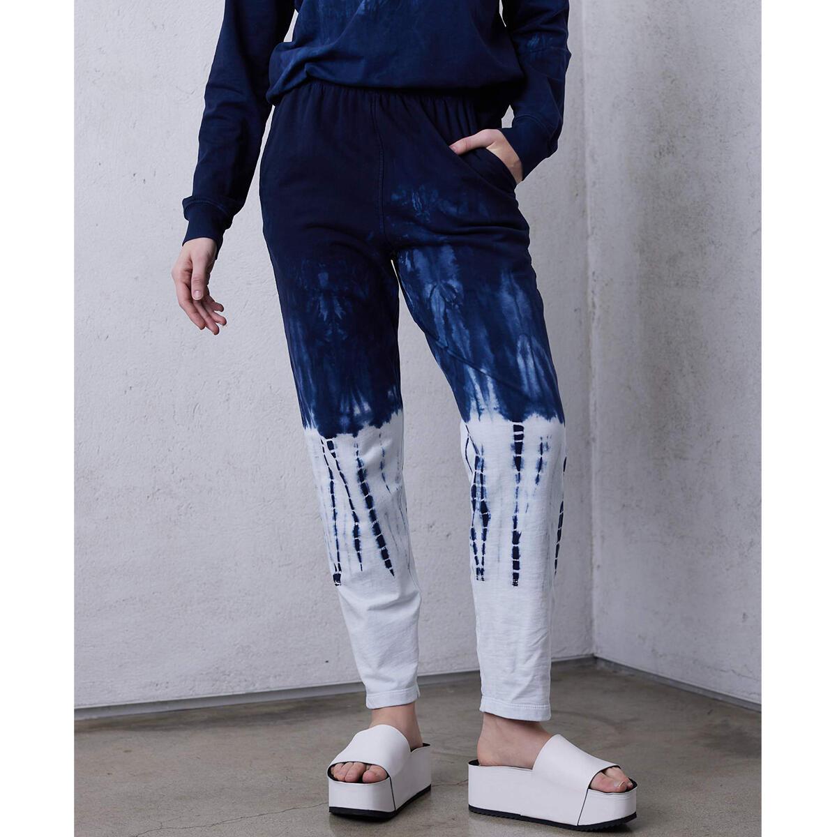 Hilma Ankle Pant – Indigo/White