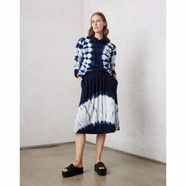 Hilma Skirt – Indogo/White