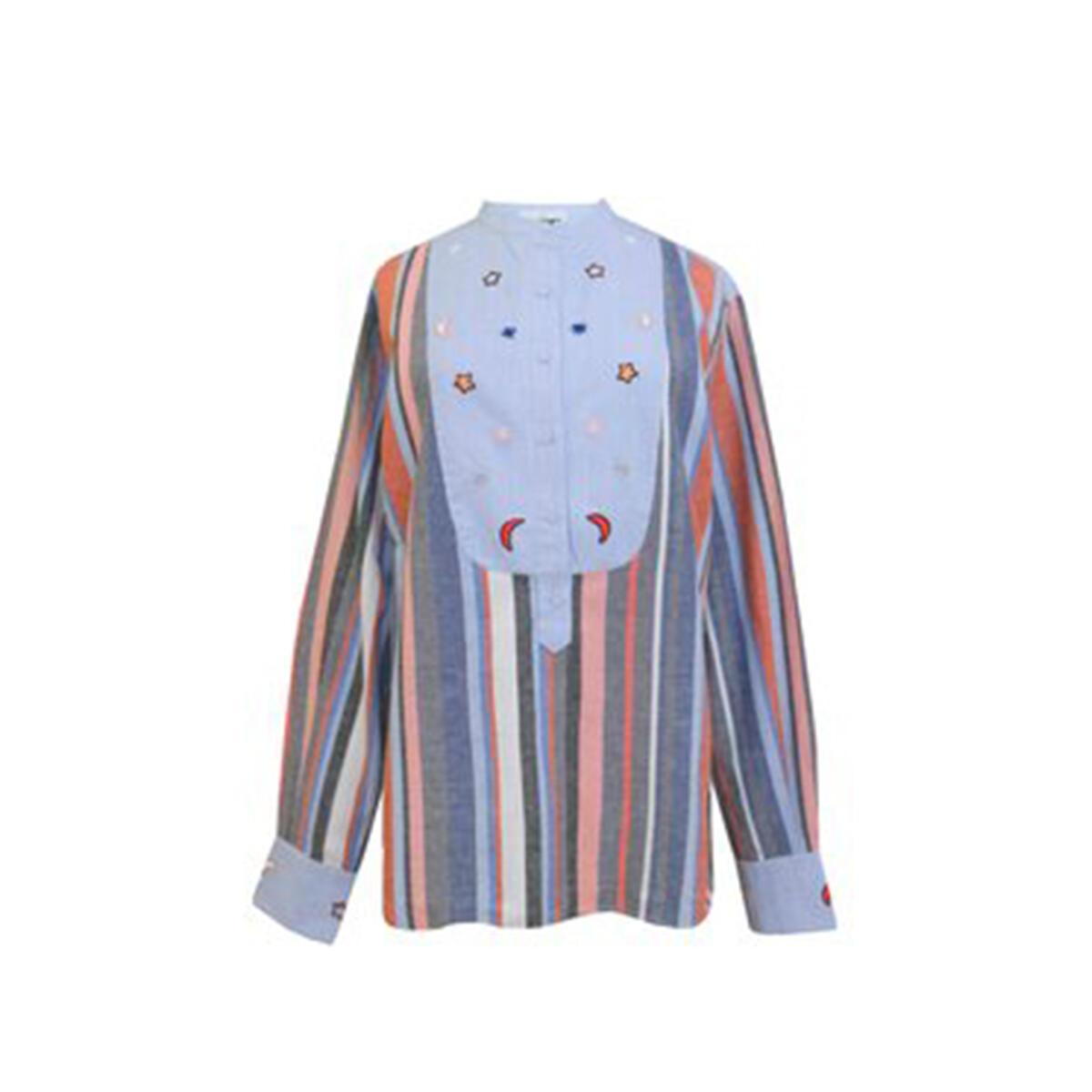 Shirt – Salmon/Grey