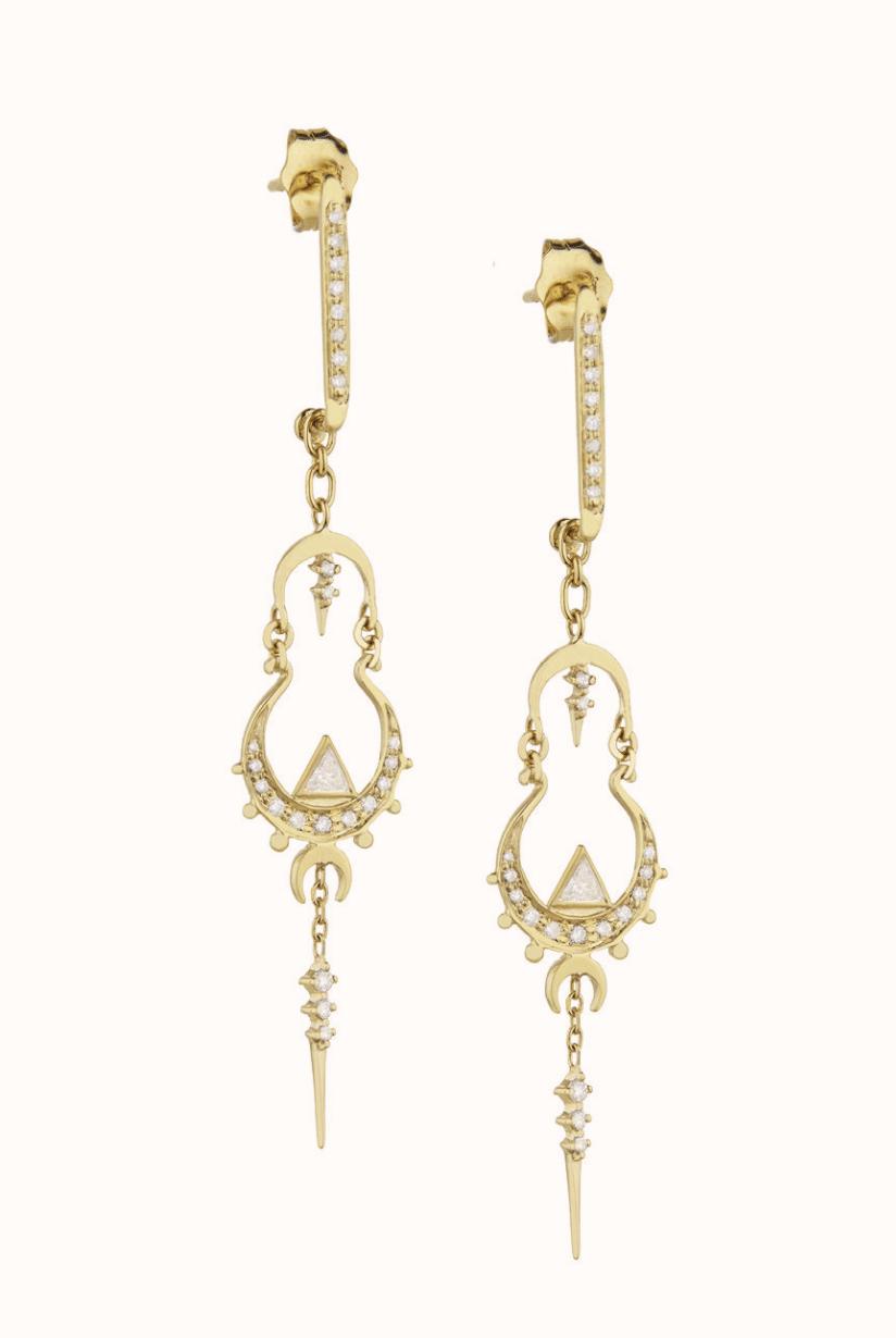 Mandala Long Earrings