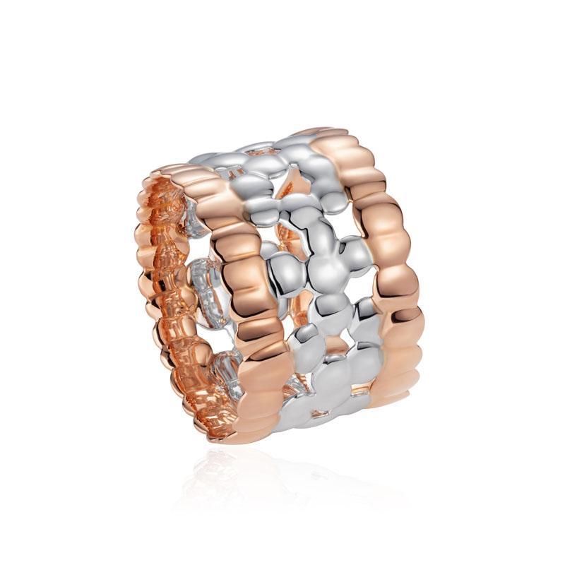 Skin on Skin Ring in 18K White & Rose Gold