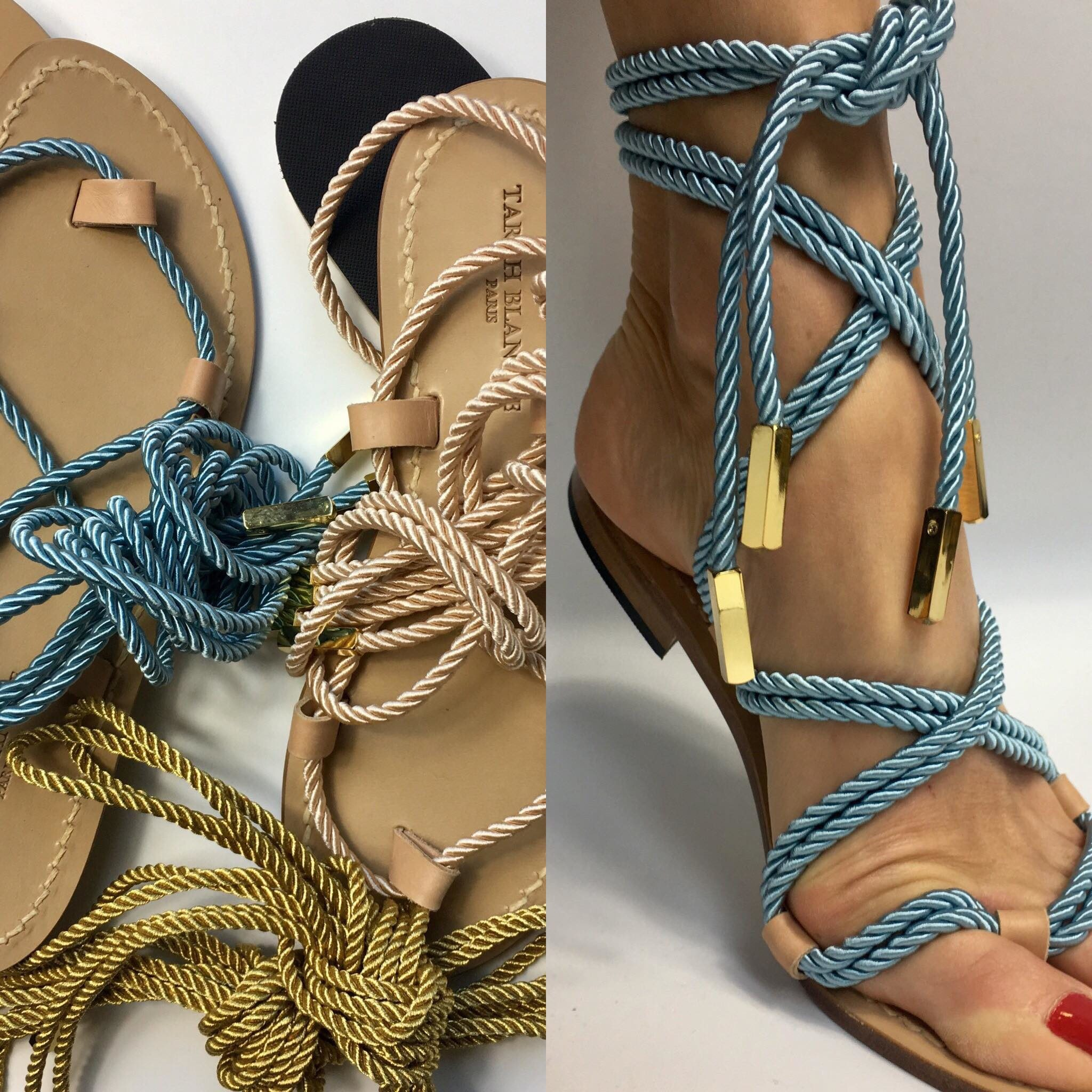 Beige Sandals with 2 laces