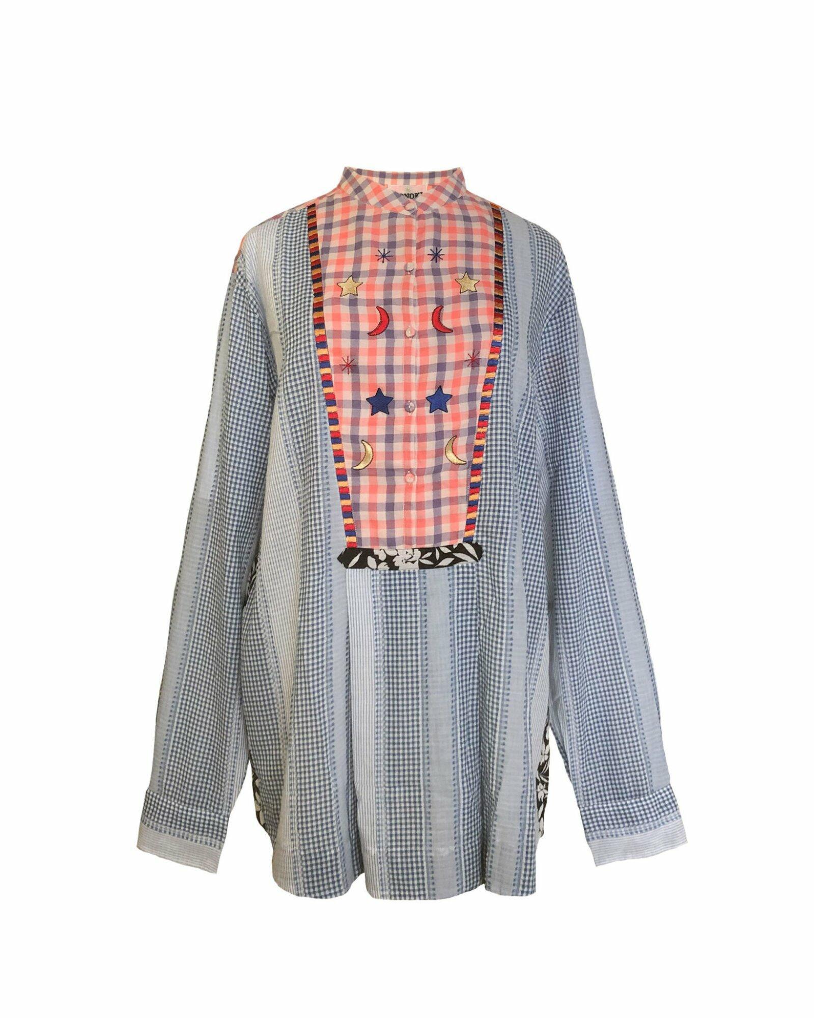 Vichy Rose and Stripes Shirt