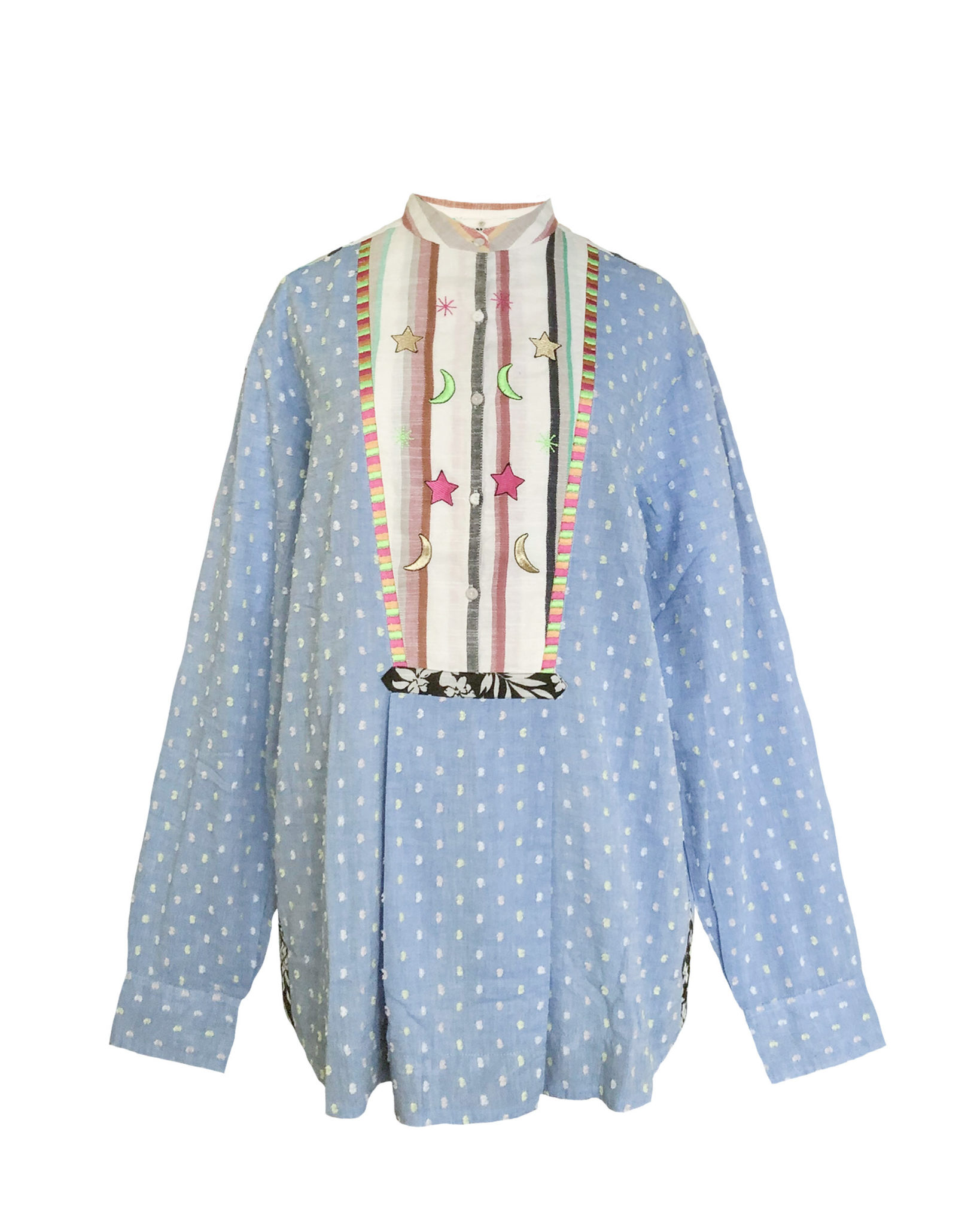 Plumetis/Stripes Shirt