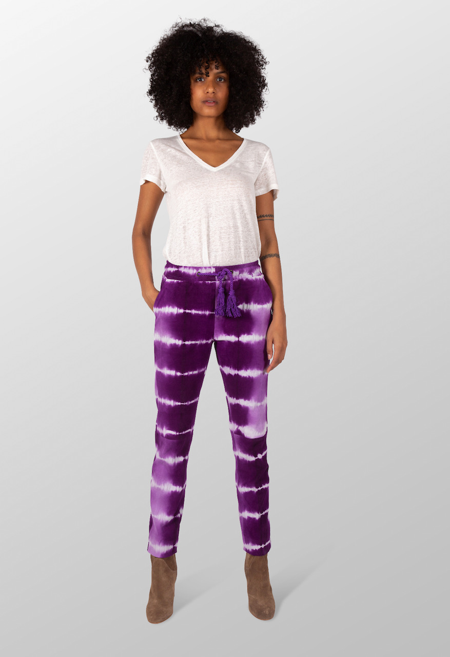 Trousers nomad cut velvet Tie and Dye