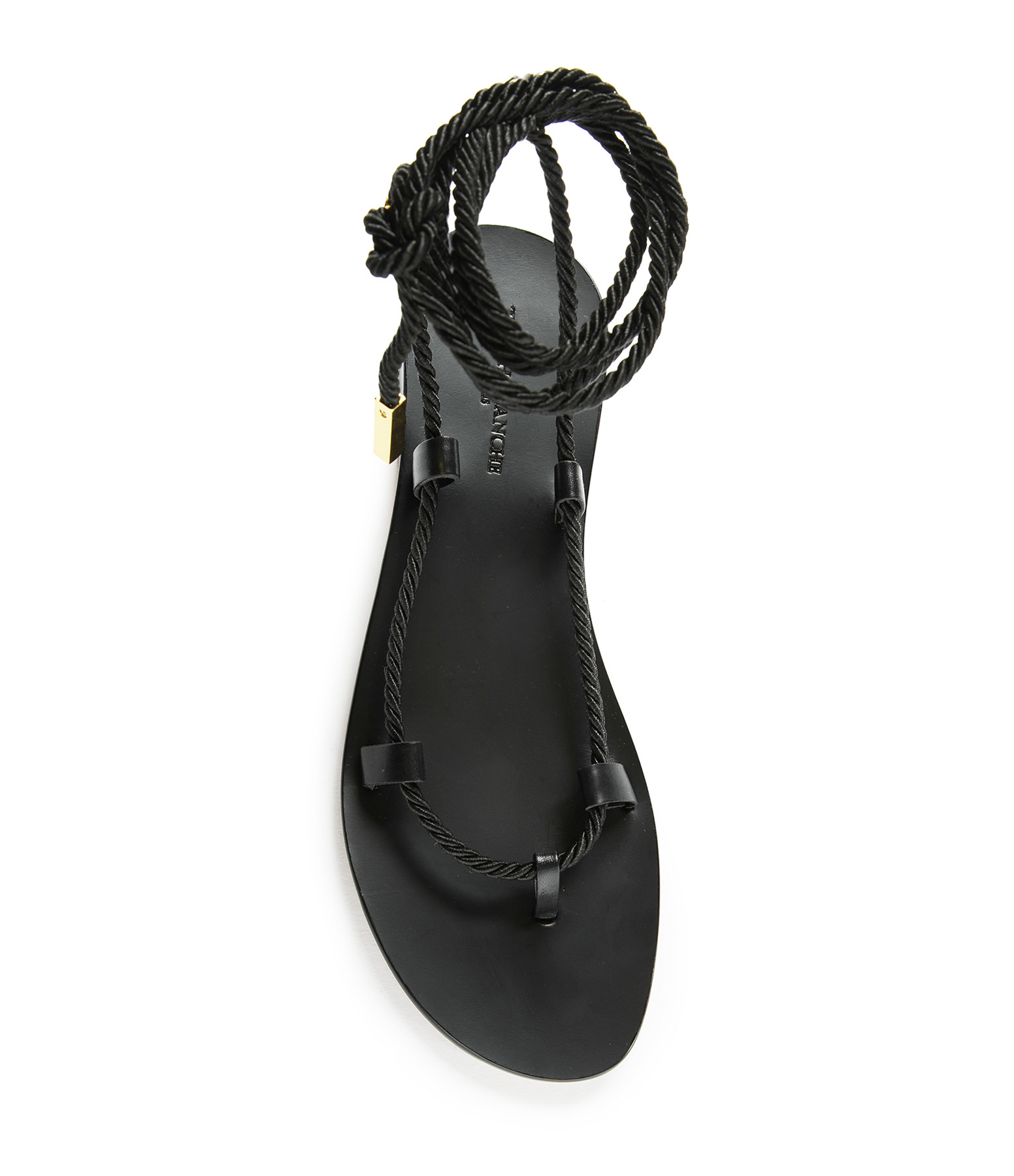 Black Sandals with one lace