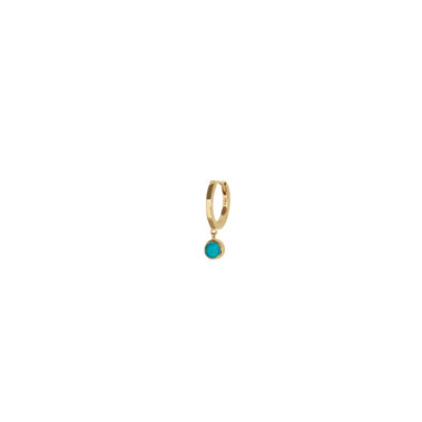 Gold hoop with turquoise
