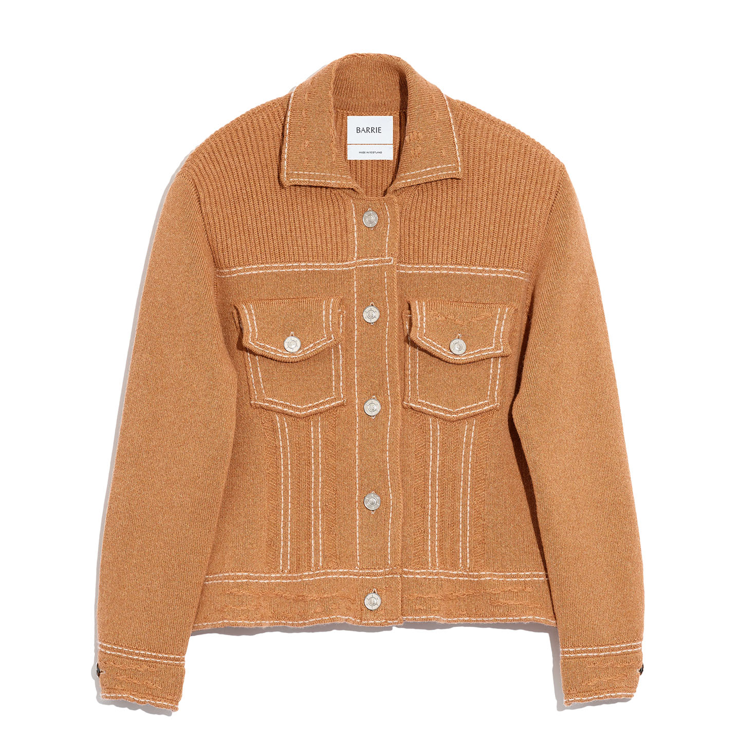 Fitted cashmere and cotton jacket