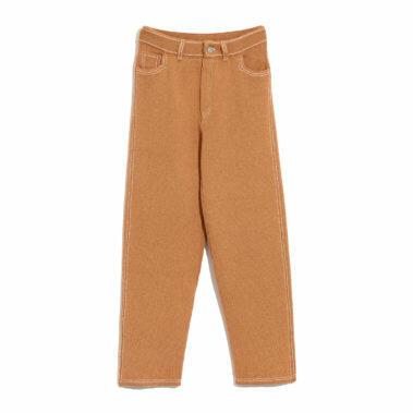 Cashmere and cotton boyfriend trousers