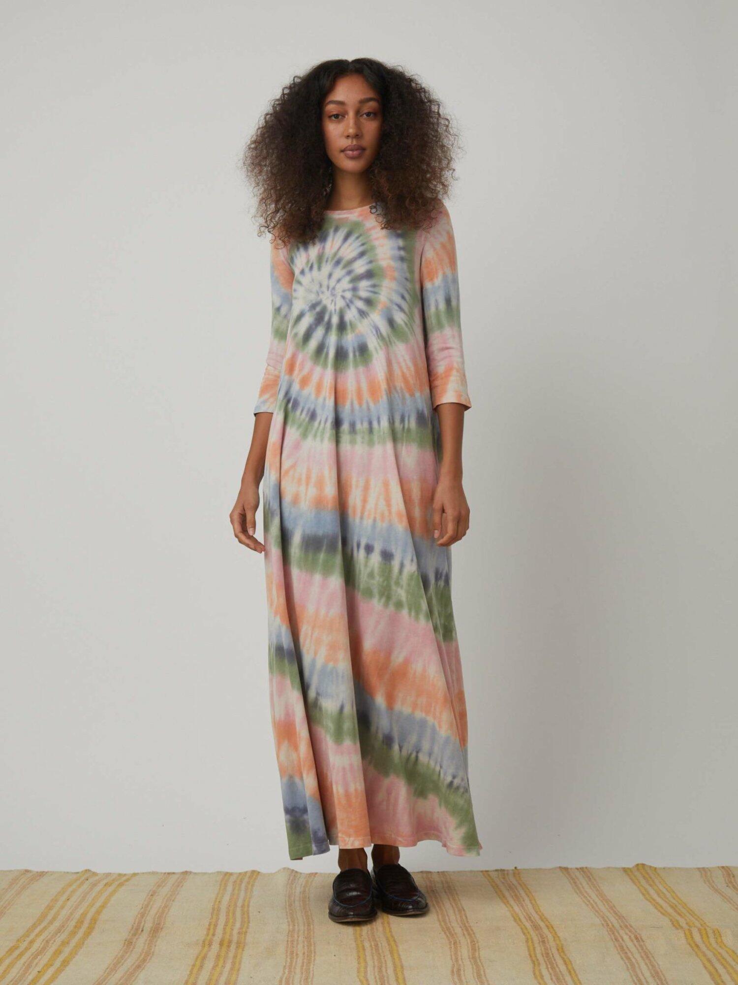 Drama Maxi Dress TD – Pastel Spiral