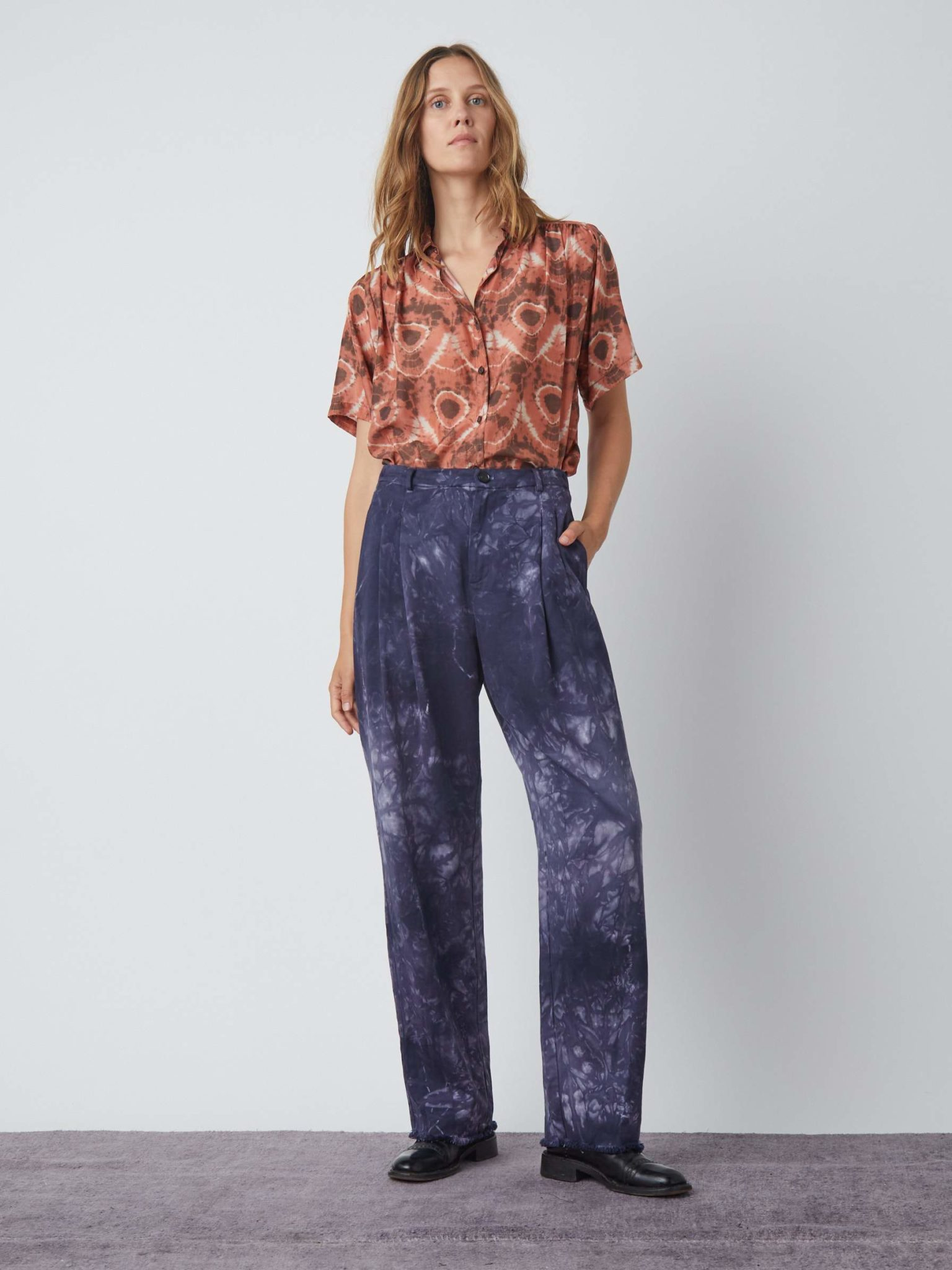 Washed Trouser TD – Navy