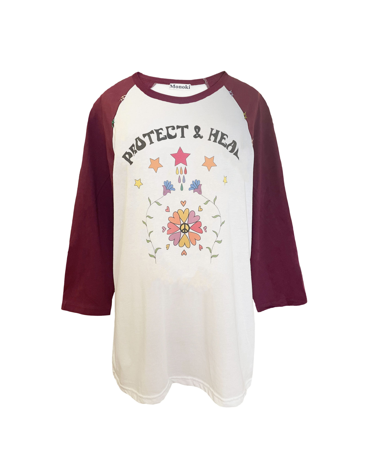 Baseball Tee Shirt – Burgundy