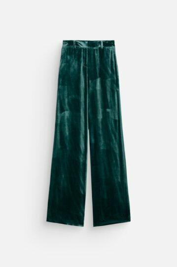 Iris Trousers – Green Velvet